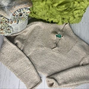 Vintage COLDWATER CREEK Marled Oatmeal Sweater